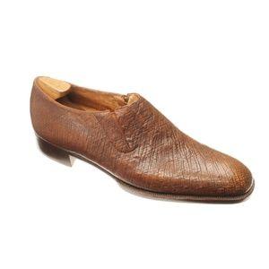 John Lobb Elastic Sided Ostrich Skin Dress Shoes 349b415b720